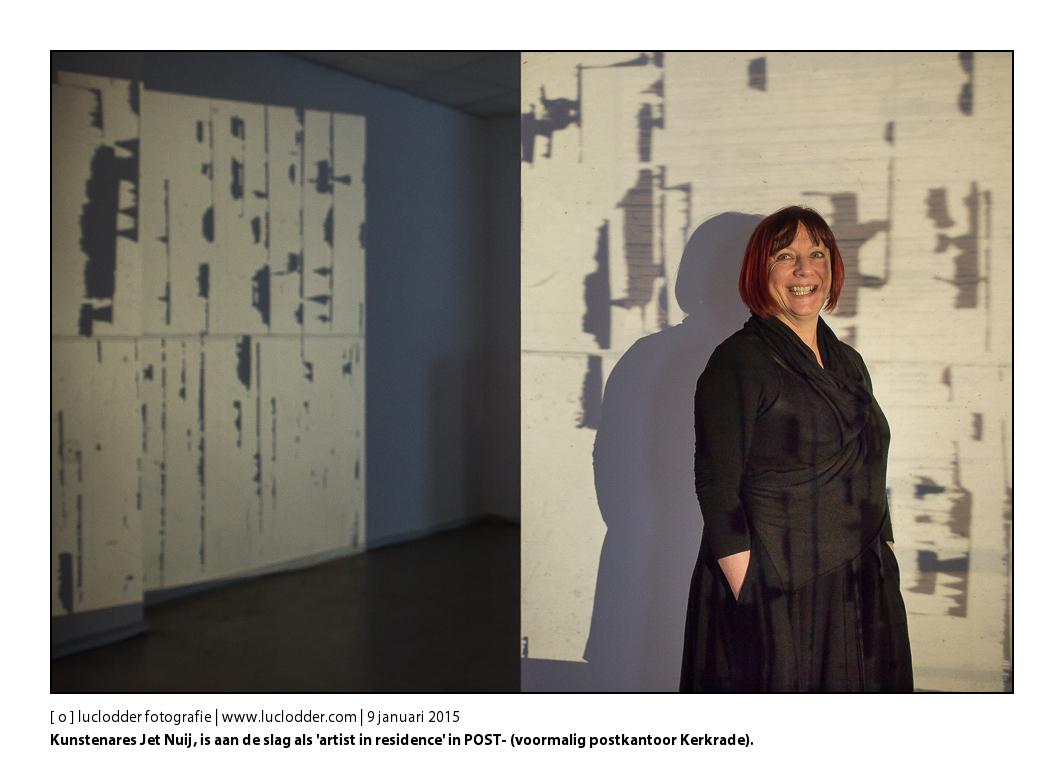 Kunstenares Jet Nuij, is aan de slag als 'artist in residence' in POST- (voormalig postkantoor Kerkrade). Haar project is de aftrap van POST-Mining, een project van kunstenaarscollectief Sjtub, dat dit jaar tien tentoonstellingen en kunstprojecten organiseert rond het Jaar van de Mijnen.