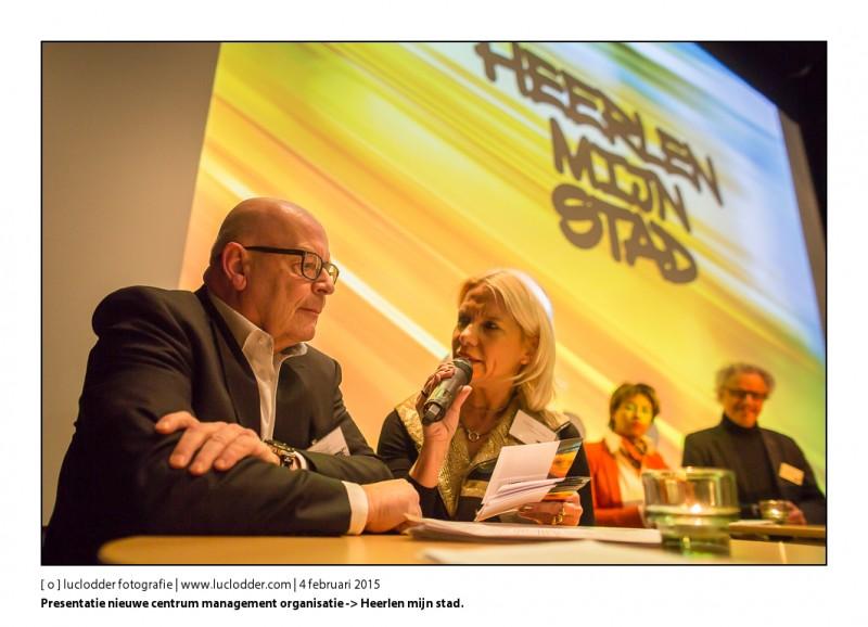 Nieuwe centrum management organisatie -> Heerlen mijn stad. Sinds 24 december 2014 officieel opgericht voegt de 3 bestaande organisatie in een. Tijdens de presentatie in de filmzaal van Schunck deed Leo Jongen een aantal vragen beantwoorden.