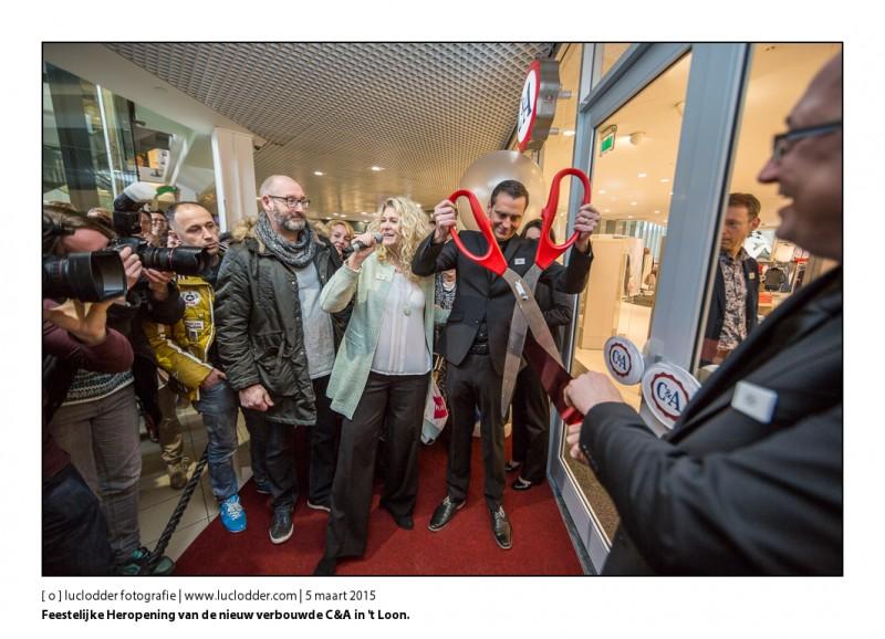 Feestelijke Heropening van de nieuw verbouwde C&A in 't Loon. Het C&A word daarmee de grootste en de eerste volgens het nieuwe winkelconcept.