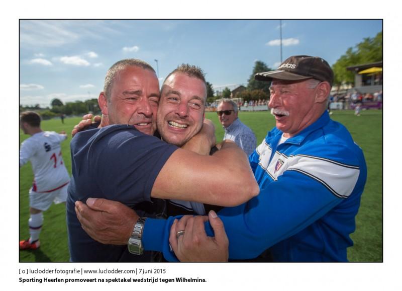 Amateurvoetbal / Play Offs 1e klasse / Sporting Heerlen - Wilhelmina