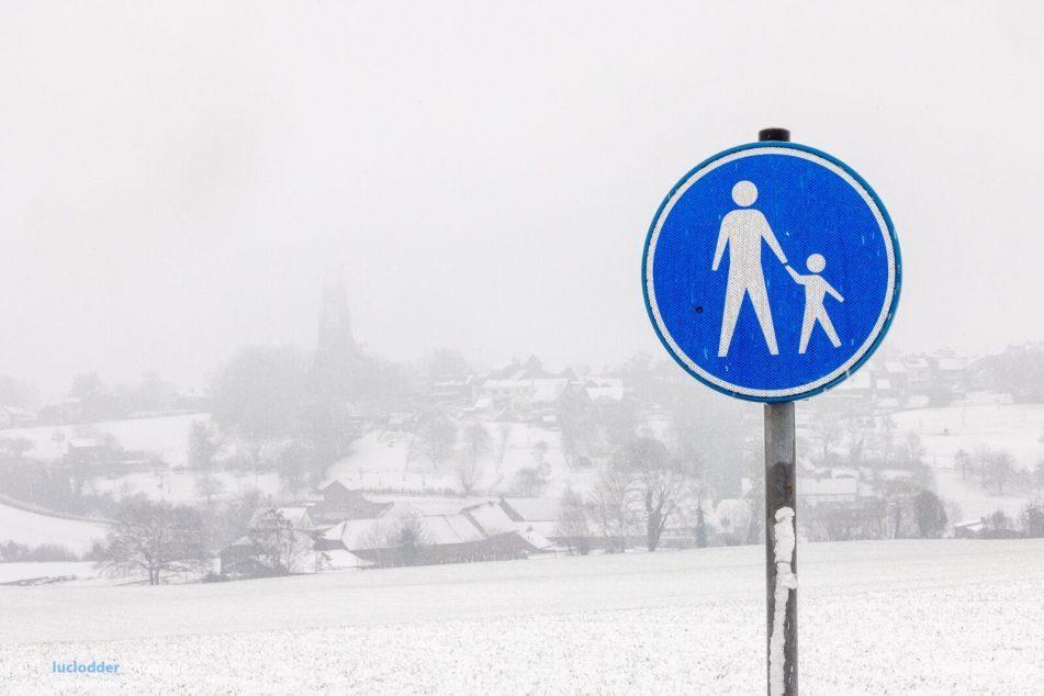 Winter, eindelijk weer eens sneeuw.